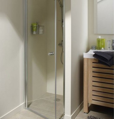 Paroi de douche chromé WALK transparent 68x70cm BASIC SEGMENT