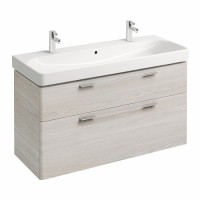 Plan de toilette JAM CC 2 trous autoportant blanc 120cm ALLIA