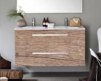 Meuble WOODSTOCK 2 tiroirs Chêne Nebraska 120cm ALTERNA