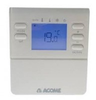 Thermostat d'ambiance digital radio 90x100x23mm ACOME