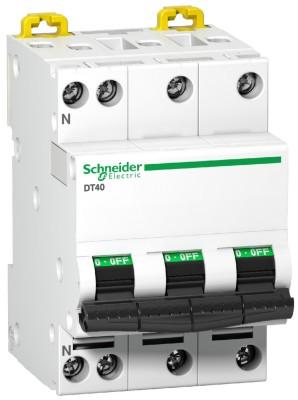 Disjoncteur tétra polaire ACTI9 DT40 3P+N 20A C SCHNEIDER