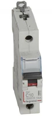 Disjoncteur DX3 LG4 1P+NG C10 6000A/10kA LEGRAND