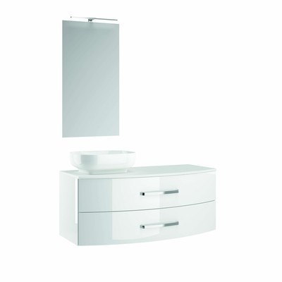 caisson sous vasque ancodesign blanc brillant 1200x300mm anconetti saint brieuc 22000. Black Bedroom Furniture Sets. Home Design Ideas