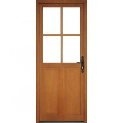porte de service bois 1 vantail semi vitr e p ne dormant. Black Bedroom Furniture Sets. Home Design Ideas