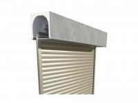 Volet roulant TRADI enroulement intérieur aluminium design 1015 ivoire clair 2500x1500mm