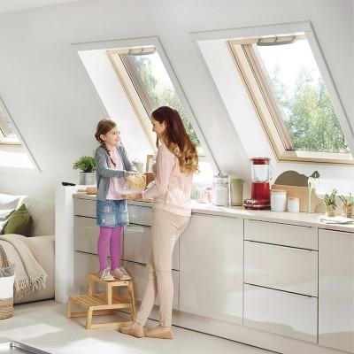 Fenêtre De Toit Roto Q Bois Laqué Blanc 78x98cm Roto Sargé Lès Le