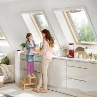 Fenêtre de toit ROTO Q bois laqué blanc 78x98cm ROTO