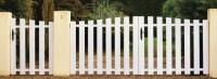 Portail Tivano PVC Blanc sans accessoires 120x250cm