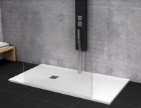 Receveur de douche résine MEMPHIS à poser grand espace blanc 100x80cm