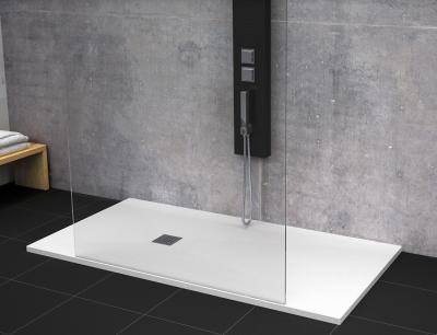 Receveur de douche résine MEMPHIS à poser grand espace blanc 140x90cm