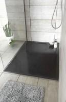 Receveur de douche résine MEMPHIS à poser grand espace graphite 100x80cm