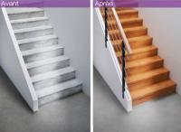 Kit de rallonge pour rénovation palier chêne blanchi 38x140cm