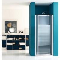 Paroi de douche pivotante largeur 96/102cm verre sérigraphié BASIC SEGMENT
