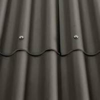 Plaque COLORONDE 6 ondes noir graphite 175x918