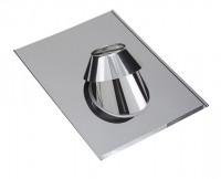Solin inox avec collerette 30° a 45° pour ardoise diamètre 230mm