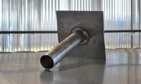 Évacuation d'eau pluviale plomb platine 340x340mm diamètre 110x115 hauteur 500mm