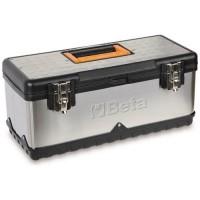 Boîte à outils en acier inoxydable et en matière plastique