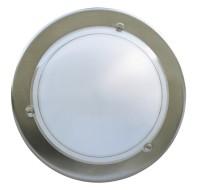 Applique ronde aluminium brossé SLID
