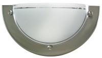 Applique demi-ronde aluminium brossé SLID