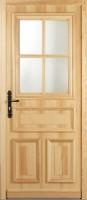 Porte bois pin D46 04-12PE GJ S3P gauche poussant 215x80cm MOLENAT BOIS
