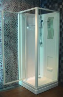 Cabine de douche CONCERTO 90 x 90 cm accès de face porte pivotante ALTERNA
