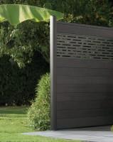 Lame de clôture bois composite co-extrudée IZZIE gris 20x161x1745mm