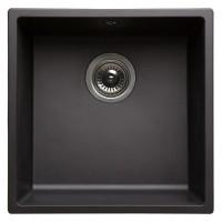 Evier Vézelay en céramique à encastrer noir 500x450x170mm ALLIA