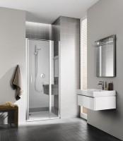 Porte de douche pivotante avec élément fixe CC 1GR 10020 VPK pivotant à droite