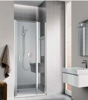 Porte de douche pivotante avec élément fixe CC 1GL 10020 VPK pivotant à gauche