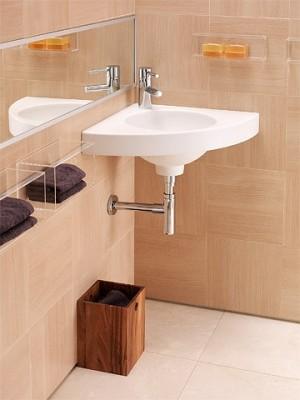 Plan de toilette angle SARDANE blanc ALLIA