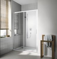 Porte de douche coulissante grande largeur 2 éléments CC G2L 12020 VPK pivotant à gauche