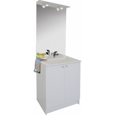 Miroir COMBIBLOC 60 SP incand blanc largeur 60cm NEOVA