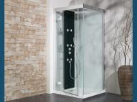 Cabine douche KINEFORM porte coulissante receveur haut thermostatique 100x80cm KINEDO DOUCHE