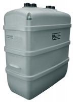 Cuve fioul avec cuvette de rétention intégrée ROTHALENS PLUS PEHD 1000 litres ROTH