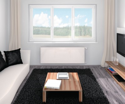 Radiateur eau chaude REG3000 33H habillé horizontal 750x1350mm 4023W FINIMETAL