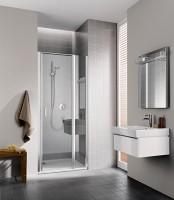 Porte de douche pivotante avec élément fixe CC 1GR 12020 VPK pivotant à droite ROTHALUX