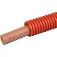 Tube PER gaine rouge 13x16 100m ACOME