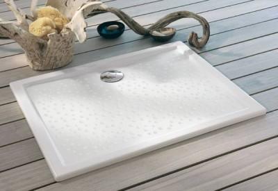 Receveur à encastrer PRIMA extra-plat blanc 100x80cm ALLIA