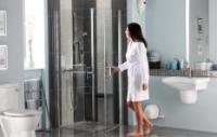 Paroi de douche LARENCO retour fixe 100 hauteur 190 AKW INTERNATIONAL