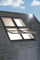 Fenêtre de toit bois R7 9T H WD DESIGNO avec bloc isolant 134x140cm 50 ROTO FRANK
