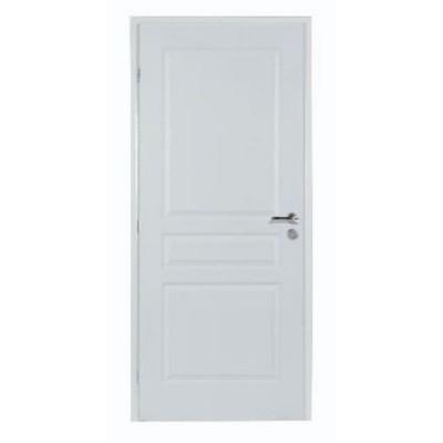 Bloc-porte postformé 3 panneaux à recouvrement 204x73cm gauche poussant huisserie sapin 88x58cm