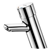 Mitigeur temporisé lavabo + robinetterie flexibles avec robinet d'arrêt M 1/2 DELABIE