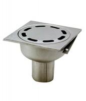 Siphon sol inox V100/1F siphon à cloche 250x250 ACO