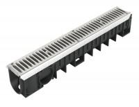 Caniveau avec grille PVC 0,5m NICOLL