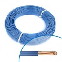 Fil électrique H07VR bleu 6mm couronne de 100m NEXANS