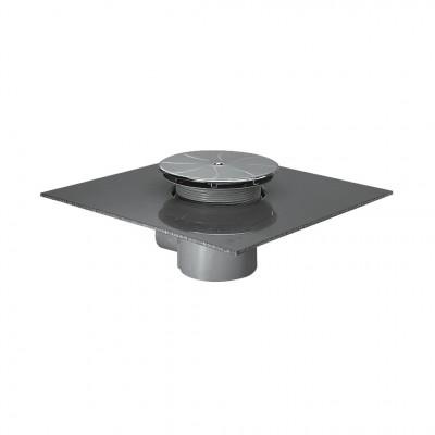 Bonde siphoïde pour receveur diamètre 90mm sortie horizontale chromé PORCHER