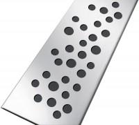 Grille en inox pour caniveaux 800 SICAN avec clips motif bulles 745x50mm NICOLL