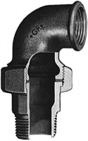 Coude-union fonte malléable 98 galvanisée 12x17mm ATUSA