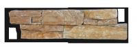 Parement CG025 épaisseur 25-35mm Quarzite jaune 15x60cm