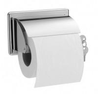 Porte-papier WC rouleau à clé laiton chromé rouleau hêtre 96x152x68mm PELLET ASC
